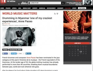 "Podcast  ""World music matters"""