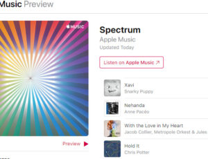 'Nehanda' : Second on Apple Music 'Spectrum' playlist !