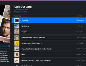 « Tomorrow » en playlist 'Chill out Jazz' sur Apple Music !