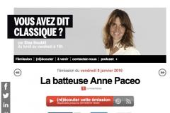 FRANCE INTER / VOUS AVEZ DIT CLASSIQUE ?